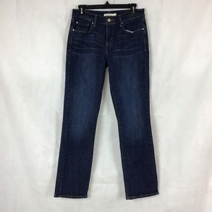 Levi's 505 Straight Leg Jeans Size 4 Blue Dark